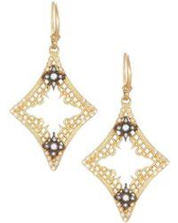 Armenta - Old World 18k Open Mesh Drop Earrings W/ Diamonds - Lyst