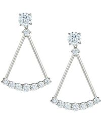 Fantasia by Deserio - Crystal Open Drop Earrings - Lyst
