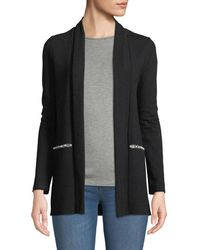 Neiman Marcus - Pearl-inset Open-front Cardigan - Lyst