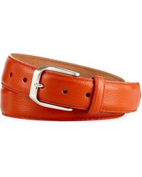 W. Kleinberg - Pebbled Calfskin Leather Belt - Lyst