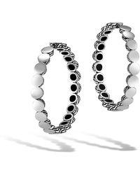 John Hardy - Dot Silver Medium Hoop Earrings With Full Closure - Lyst