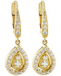 Penny Preville - Small 18k Gold Prong Diamond Pear Drop Earrings - Lyst