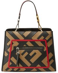 c901675ccf2d Lyst - Fendi Tobacco Runaway Shopping Leather Tote in Brown