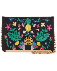 Neiman Marcus - Fruitful Floral-embroidered Crossbody Bag - Lyst