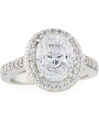 Fantasia by Deserio - Pave Oval Cz Crystal Ring - Lyst