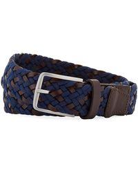 Neiman Marcus - Men's Braided Leather Belt - Lyst
