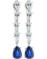 Fantasia by Deserio - Multi-drop Cubic Zirconia & Synthetic Sapphire Earrings - Lyst