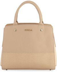 Furla - Rachele Medium Pebble/saffiano Leather Satchel Bag - Lyst