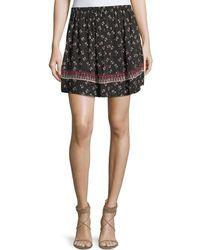 Ella Moss - Florica Floral-printed Mini Skirt - Lyst