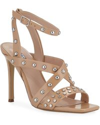 e0c228f418c Charles David - Velocity Strappy Studded Leather Sandals - Lyst