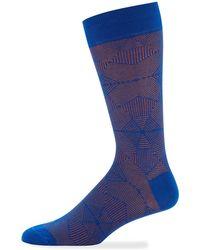 Jared Lang - Men's Geometric Cotton Socks - Lyst