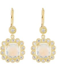 Penny Preville - 18k Scalloped Moonstone & Diamond Drop Earrings - Lyst