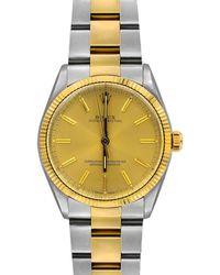 Rolex - Pre-owned 34mm 18k Gold Bracelet Watch - Lyst