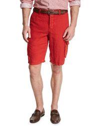 Kiton - Linen Cargo Shorts - Lyst