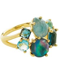 Ippolita - 18k Gold Polished Rock Candy Cluster Ring In Midnight Rain - Lyst