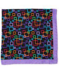 Bugatchi - Multicolor Geometric Pattern Silk Pocket Square - Lyst