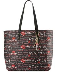 Betsey Johnson | Allover Logo-print Faux-leather Tote Bag | Lyst
