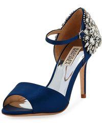 Badgley Mischka - Harbor Crystal-embellished Satin Sandals - Lyst
