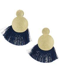 Panacea - Double-circle Fringe Earrings - Lyst