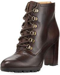 Adrienne Vittadini - Thad Distressed Calf Leather Booties - Lyst