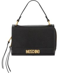 Moschino - Medium Leather Shoulder Bag - Lyst