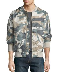 Wesc - Men's Camouflage Lightweight Bomber Jacket - Lyst