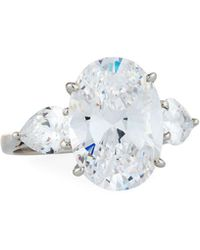 Fantasia by Deserio - Triple Oval & Pear Cubic Zirconia Ring - Lyst