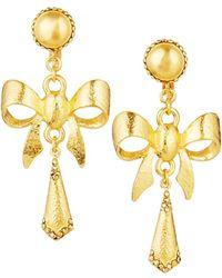 Jose & Maria Barrera - Hammered Bow Drop Earrings - Lyst