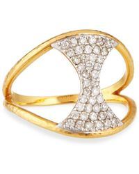 Gurhan - Two-tone Gold & Diamond Tuxedo Ring - Lyst