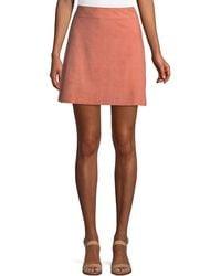 Theory - High-waist Mini-length Suede Skirt - Lyst