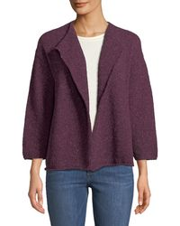 Eskandar - Cropped Wool-blend Cardigan - Lyst
