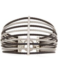 Alor - Multi-row Split Wide Bangle W/ Diamonds - Lyst