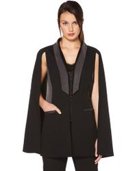 Laundry by Shelli Segal - Removable Cape Vest - Lyst