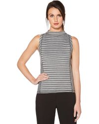 Laundry by Shelli Segal - Reversible Mock Neck Top - Lyst