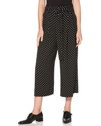 Laundry by Shelli Segal - Dotted Crop Pant - Lyst