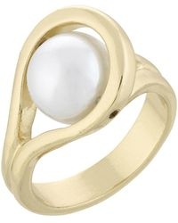 Laundry by Shelli Segal - Looped Pearl Ring - Lyst