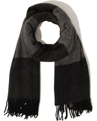 Lavish Alice - Black & Grey Colour Block Scarf - Lyst