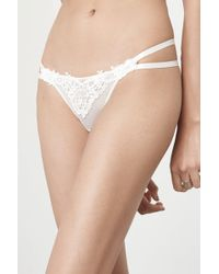 Lavish Alice - White Crochet Insert Strap Detail Mesh Thong - Lyst