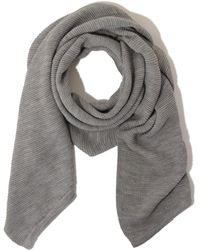 Lavish Alice - Light Grey Marl Textured Scarf - Lyst