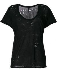 Unravel - Crewneck T-shirt Rips - Lyst