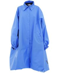 Balenciaga - Over Coat Blu - Lyst
