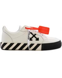 Off-White c/o Virgil Abloh - Low Vulcanized Leather Sneakers - Lyst