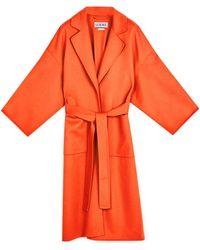 Loewe Oversize Belted Coat Orange