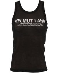 Helmut Lang - Black Mesh Tank Top - Lyst