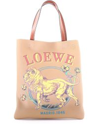 Loewe - Tote Bag With Lion - Lyst