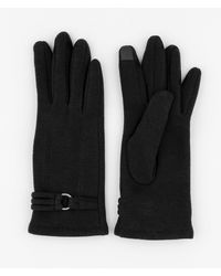 Le Chateau - Cotton Touchscreen Gloves - Lyst