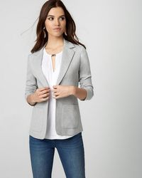 Le Chateau - Ponte Notch Collar Blazer - Lyst