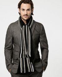 Le Chateau - Stripe Knit Scarf - Lyst