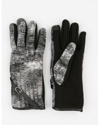 Le Chateau - Tweed Tech Gloves - Lyst