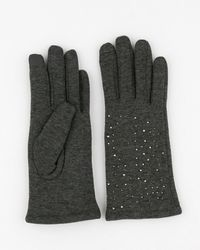Le Chateau - Jewel Embellished Knit Touchscreen Gloves - Lyst
